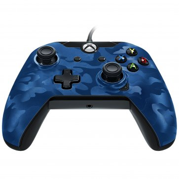 Xbox One Wired Controller Blue Camo