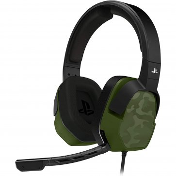 PS4 Afterglow LVL3 Wired Green Camo Headset