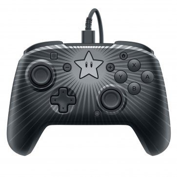 Switch Faceoff Wired Pro Controller - Super Mario Star