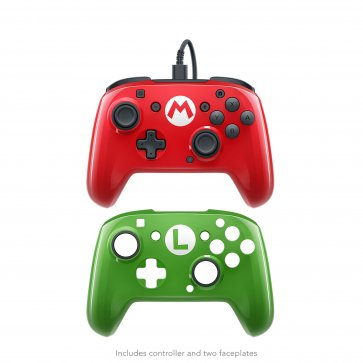 Switch Faceoff Deluxe Wired Pro Controller - Super Mario