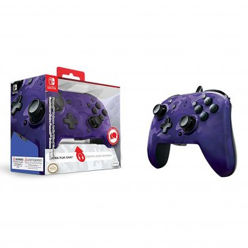 Switch Faceoff Deluxe + Audio Wired Controller - Purple Camo