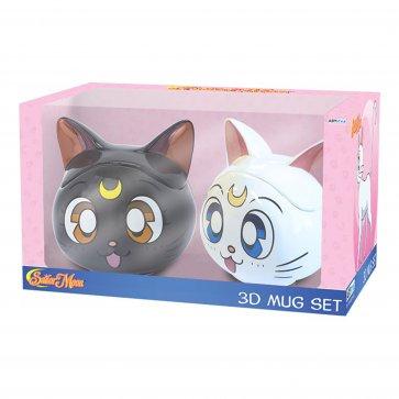 Sailor Moon - Luna & Artemis 3D Mug Gift Set