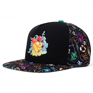 Crash Bandicoot Premium Pattern Snapback