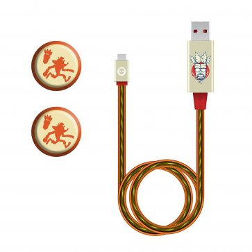 Crash Bandicoot LED Charging Cable and Grips