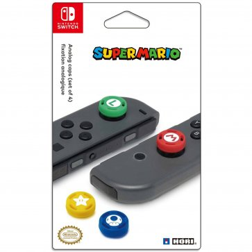 Switch Controller Analog Caps - Super Mario Edition