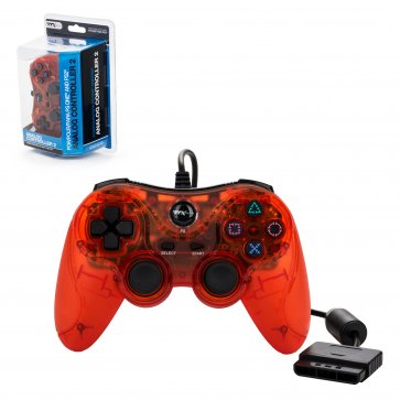 PS2 Red Wired Controller