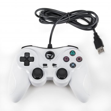 PS3 Wired USB Controller - White