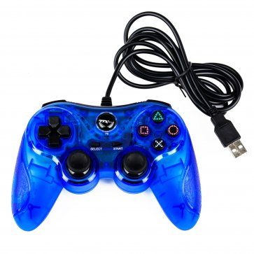 PS3 Wired USB Controller - Blue