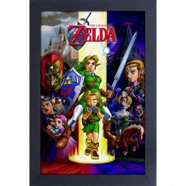 Zelda - Ocarina - 11x17 Framed Gel Coated Poster
