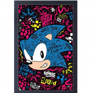 Sonic Emerald Club World Tour 11x17 Framed Gel Coated Poster