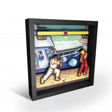 """Pixel Frames - Street Fighter: Boat Scene 9""""x9"""""""