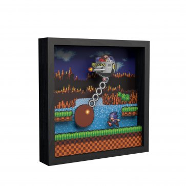 "Pixel Frames - Sonic the Hedgehog: Wrecking Ball 9""x9"""
