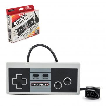 NES Style 8-Bit Wired Controller - Classic Color