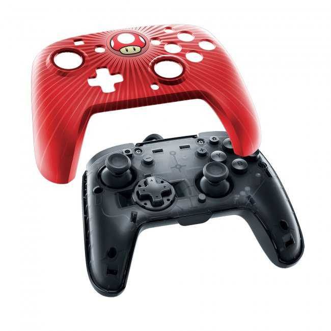 Switch Faceoff Wired Pro Controller - Red Mushroom