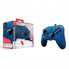 Switch Faceoff Deluxe + Audio Wired Controller - Blue Camo