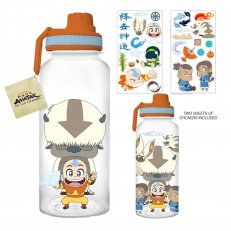 Avatar 32oz Twist Spout Plastic Bottle w/ Sticker Set