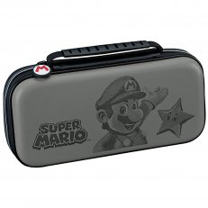 . Switch Super Mario Deluxe Travel Case - Grey Deboss