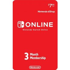 Nintendo eShop Switch Online 3 Month Subscription Card