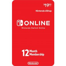 Nintendo eShop Switch Online 12 Month Subscription Card