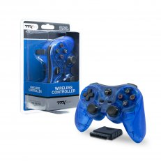 PS2 Clear Blue Wireless Controller - Similar To DS2