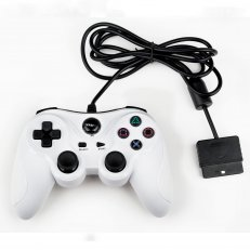 PS2 White Wired Controller - Similar To DS2