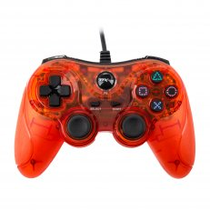 PS3 Wired USB Controller - Clear Red
