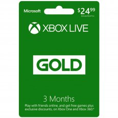 Xbox Live Gold 3 Month Subscription Card