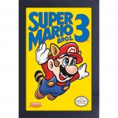 Super Mario Bros. 3 - Cover - 11x17 Framed Gel Coated Poster