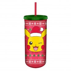 . Pokemon Wind Face Holiday Sweater Travel Cup