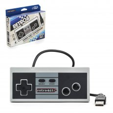 PC NES Wired RetroBit Dual Port Controller Black-White