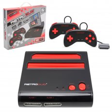 1RetroDuo SNES & NES Dual 2in1 System Red-Black