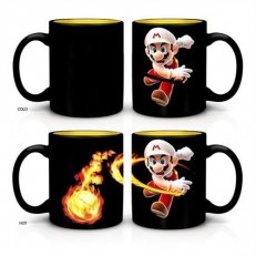 Mario Heat Changing Fireball Ceramic Coffee Mug 16oz