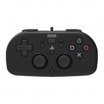PS4 Hori Mini Wired Gamepad - Black