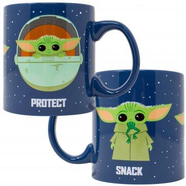 Star Wars Mandalorian Protect Attack Snack Ceramic Mug
