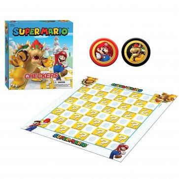 Super Mario vs Bowser Checkers & Tic Tac Toe