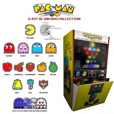 Pac-Man 8 Bit Pins Assortment 28pcs PDQ