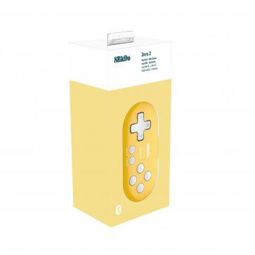 8BitDo Zero 2 Mini Gamepad - Yellow Edition