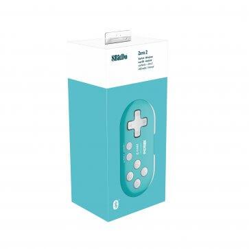 8BitDo Zero 2 Mini Gamepad - Turquoise Edition