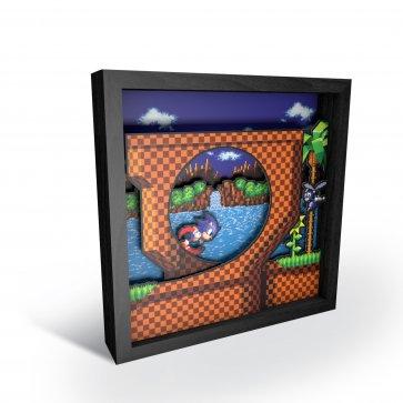 """Pixel Frames - Sonic the Hedgehog: Loop Scene 9""""x9"""""""