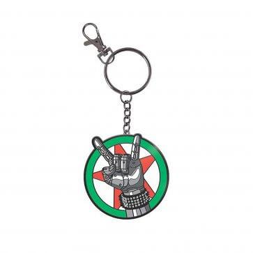 A Cyberpunk 2077: Silverhand Keychain