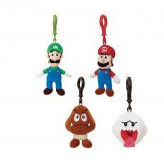 Nintendo Plush Hangers W1: Mario Luigi Goomba Boo 24PC PDQ