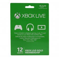 Xbox Live 12 Month Subscription Card