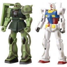 . Gundam Infinity RX-78-02 vs MS-06 Zaku II Con Exclusive