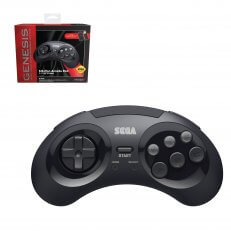 SEGA Genesis 8-Button Arcade Pad Black Wireless 2.4 GHz