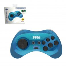 SEGA Saturn Control Pad Clear Blue Wireless 2.4 GHz