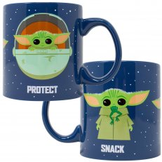 Star Wars Mandalorian Protect Attack Snack Ceramic Mug