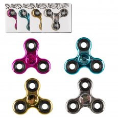 Fidget Spinner - Chrome Spinner - Assorted (Black/Blue/Red