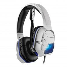 PS4 Afterglow LVL5+ White Wired Headset