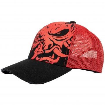 A Cyberpunk 2077 Distressed Samurai Trucker Hat