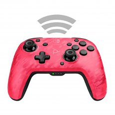 A Switch Faceoff Wireless Deluxe Controller - Pink Camo